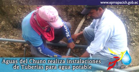 AGUAS DEL CHUNO REALIZA INSTALACIONES DE TUBERÍAS PARA EL AGUA POTABLE