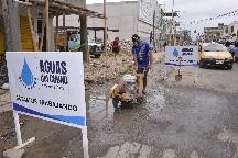 Aguas del Chuno realiza trabajos en calle Vargas Torres