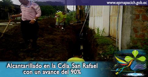 Alcantarillado en la Cdla. San Rafael con un avance del 90%