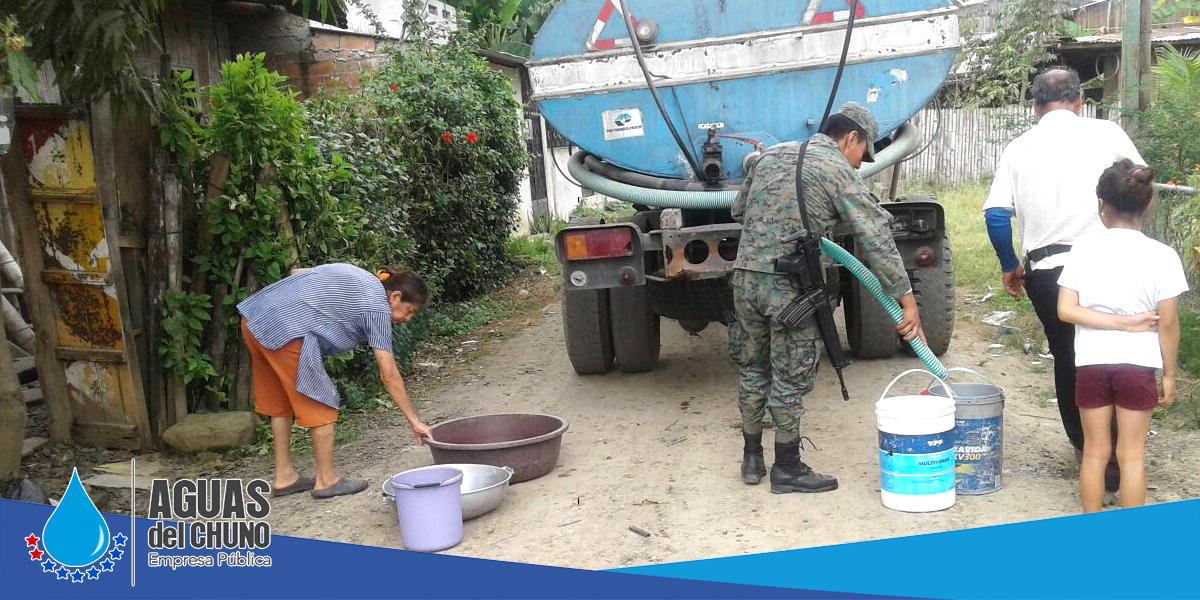 Sigue la entrega del agua a los barrios