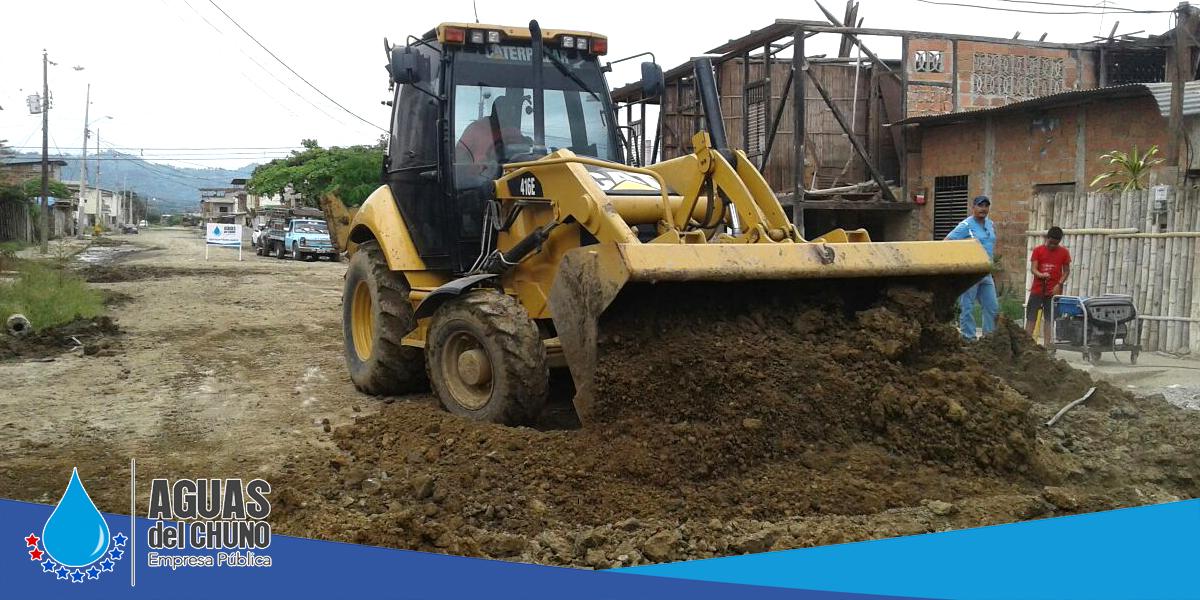 Aguas del Chuno realiza trabajos en calle Benito Santos