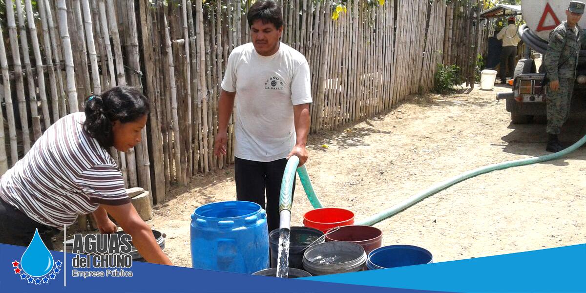 Aguas del Chuno EP sigue repartiendo agua en tanqueros
