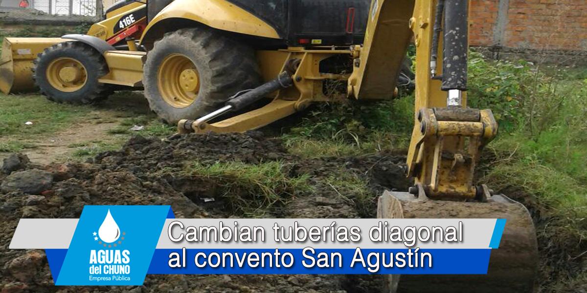 Cambian tuberías diagonal al convento San Agustín