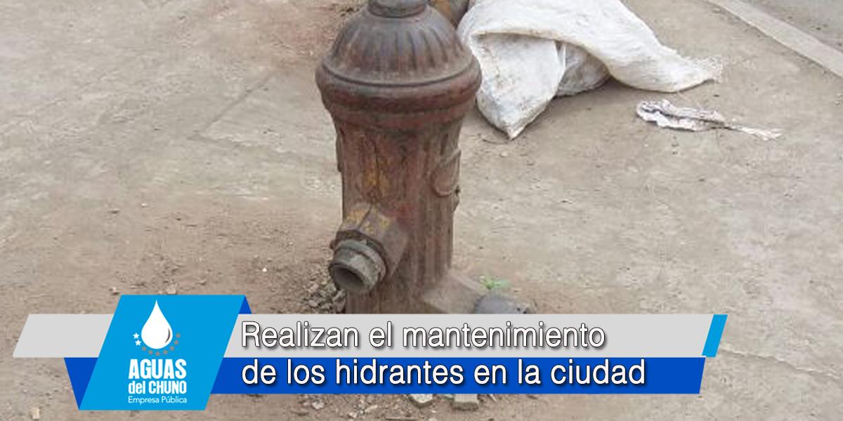 Realizan el mantenimiento de los hidrantes en la ciudad
