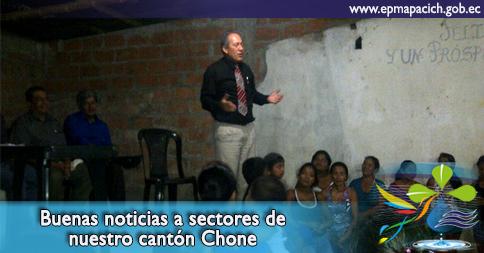 Buenas noticias a sectores de nuestro cantón Chone