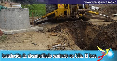 INSTALACIÓN DE ALCANTARILLADO SANITARIO EN CDLA. EL INCA